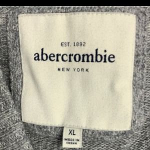 Abercrombie & Fitch Sweaters - Abercrombie XL gray v neck rabbit hair sweater